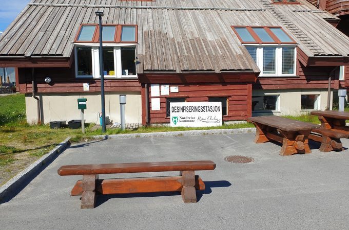 sign building benches